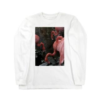 フラミンゴ Long sleeve T-shirts
