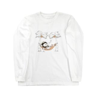 MINI BANANA ハワイアン Long sleeve T-shirts