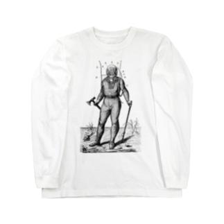 古書 天牛書店の潜水服 <アンティーク・プリント> Long sleeve T-shirts