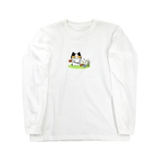 草刈り猫 Long sleeve T-shirts
