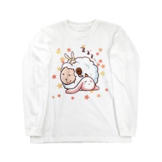 もちうさぎと羊 Long sleeve T-shirts