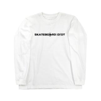 Sk8ersLoungeのSkateboard Idiot logo Long sleeve T-shirts