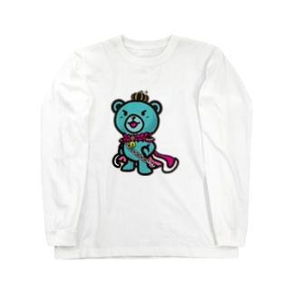 BASEfor  Bear Green Long sleeve T-shirts