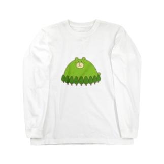 くまがおかさん Long sleeve T-shirts