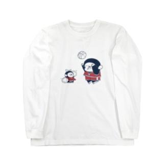 MINI BANANA バスケットゴリラ親子 Long sleeve T-shirts
