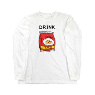 ポテチは飲み物 Long sleeve T-shirts