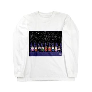 マーベルドッグス笠地蔵 Long sleeve T-shirts