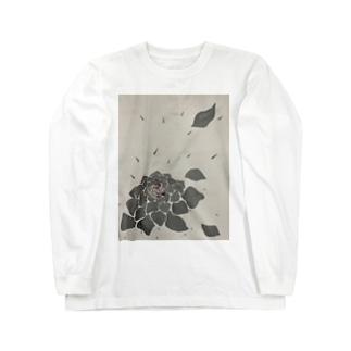 ありがとうの赤いバラ Long sleeve T-shirts