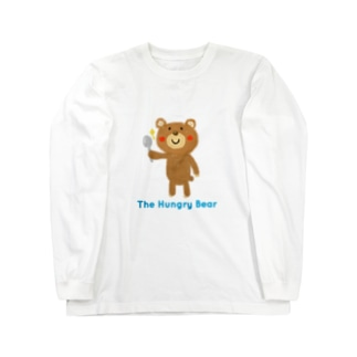 The Hungry Bear ロゴあり Long sleeve T-shirts