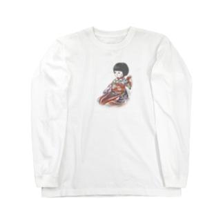 市松人形 聖(ひじり) Long sleeve T-shirts