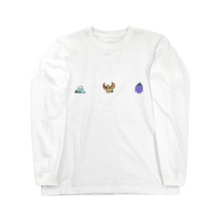 一富士二鷹三茄子🗻🦅🍆 Long sleeve T-shirts
