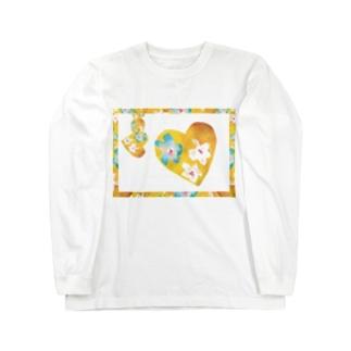 イエローハート Long sleeve T-shirts