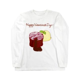 バレンタイン フォンダンショコラ Long sleeve T-shirts