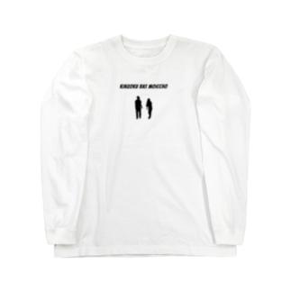 金属ロンT 黒シルエットver. Long sleeve T-shirts