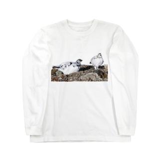 雷鳥のカップル Long sleeve T-shirts