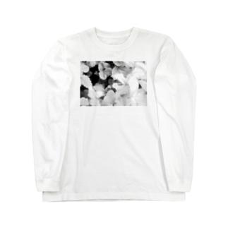 モノクロフラワー(野いちご) Long sleeve T-shirts