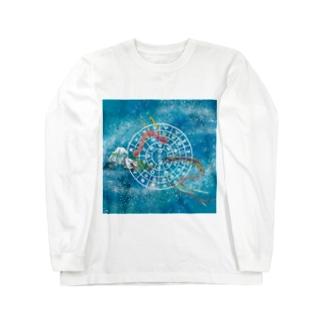 向かい合うタツ(フトマニ小さ目) Long sleeve T-shirts