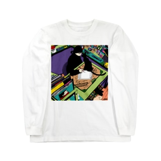 ネコの挨拶 Long sleeve T-shirts