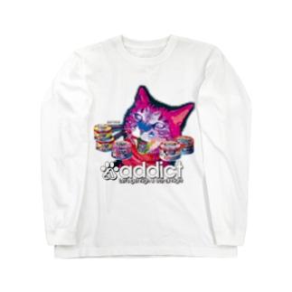 サイバー猫 Long sleeve T-shirts