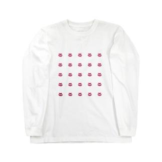 夢の歯茎ランド☆彡の歯茎たくさんのロンT Long sleeve T-shirts