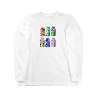 momo牛乳 Long sleeve T-shirts