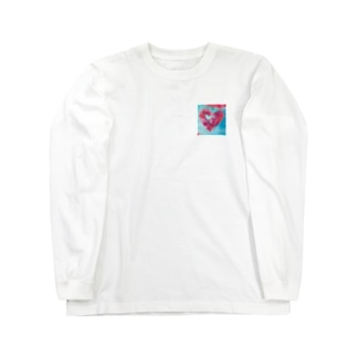 wamiの水色と赤 Long sleeve T-shirts