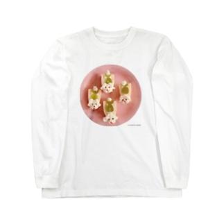 プードルのフルーツサンド Long sleeve T-shirts