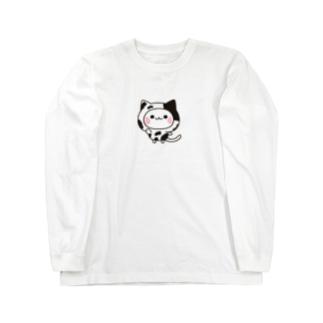 DECORの気づかいのできるネコ 牛さんver. Long sleeve T-shirts