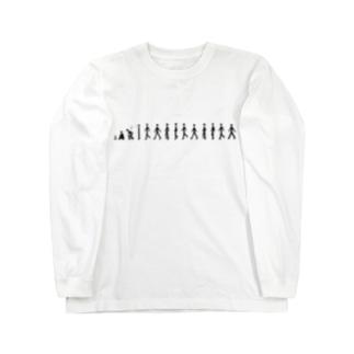 歩く人 Long sleeve T-shirts