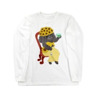 ひまわりグレッチ Long sleeve T-shirts