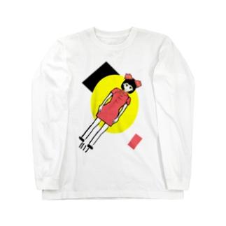 蛸突破飛行少女 Long sleeve T-shirts