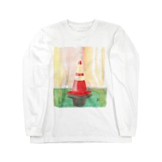 シングルコーン(Drawing) Long sleeve T-shirts