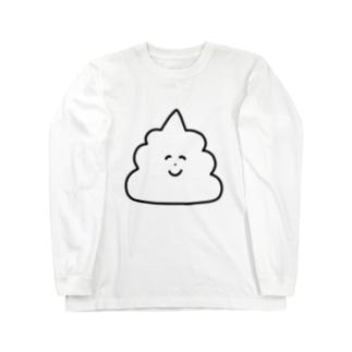 ワタシはタワシの白いうんこ Long sleeve T-shirts