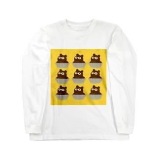 たぬきケーキここのつ Long sleeve T-shirts