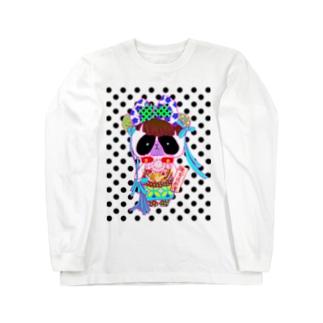 中国娘風ミニパンダさん(ドット) Long sleeve T-shirts