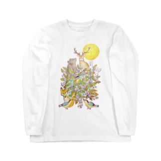 満月の夜〜一枚の葉〜 Long sleeve T-shirts