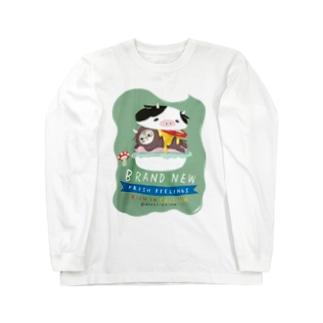 こまめがバーガー Long sleeve T-shirts