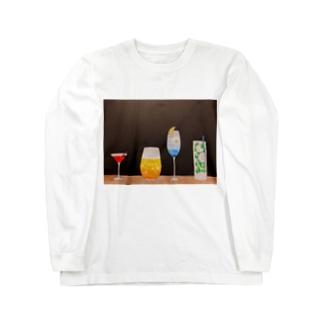 季節のカクテル Long sleeve T-shirts