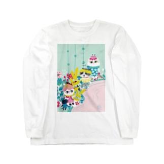 茹で汁の泉のほとりで Long sleeve T-shirts