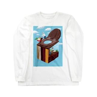 コンポストトイレ Long sleeve T-shirts