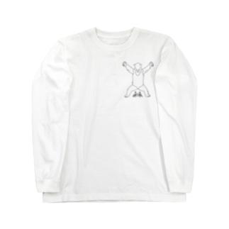 カニアリクイ応援団(ひかえめ) Long sleeve T-shirts