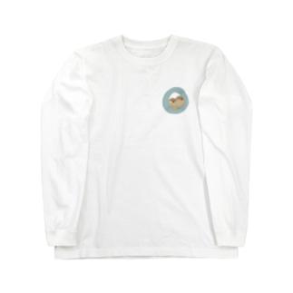 キンカは液体 ブルー Long sleeve T-shirts