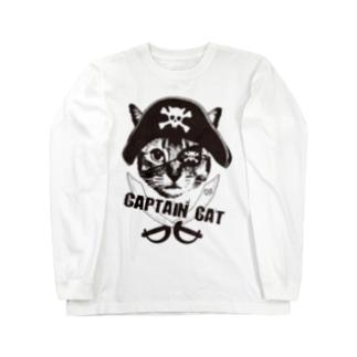 Nobigao 海賊猫 Long sleeve T-shirts