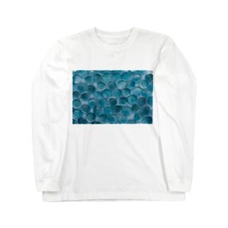 青いおはじき Long sleeve T-shirts