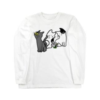 ネコさんデザイン Long sleeve T-shirts