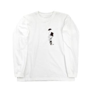 MOJIRANKUJIRAN 傘のひと Long sleeve T-shirts