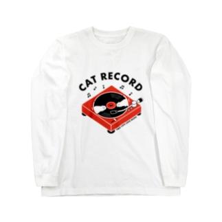 CAT RECORD Long sleeve T-shirts