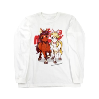 PONY FRIENDS(white) Long sleeve T-shirts