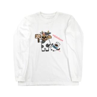 ババラー限定モチ&ハッピー Long sleeve T-shirts
