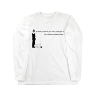 はまり画(woman) Long sleeve T-shirts